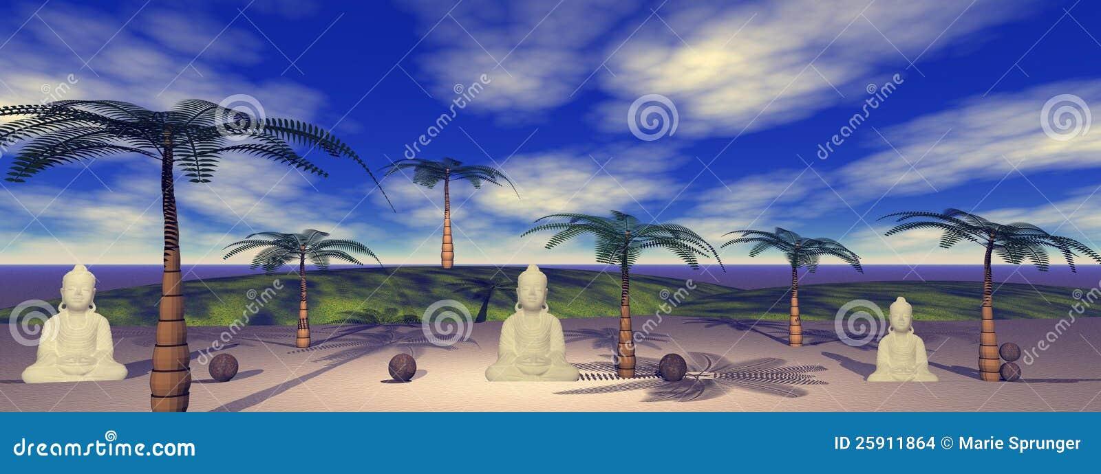 Buddha i krajobraz