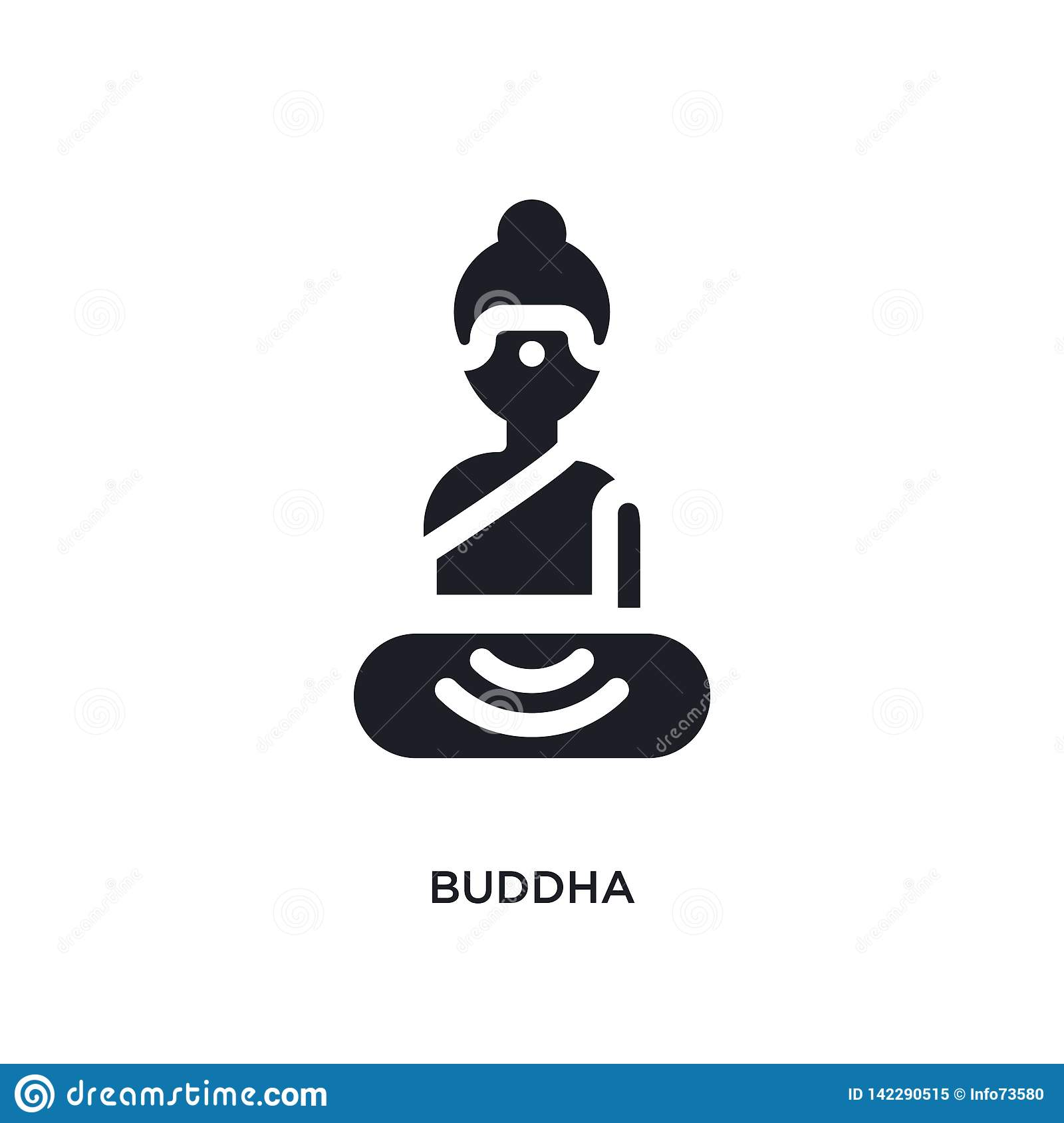 buddha isolated icon. simple element illustration from india and holi concept icons. buddha editable logo sign symbol design on