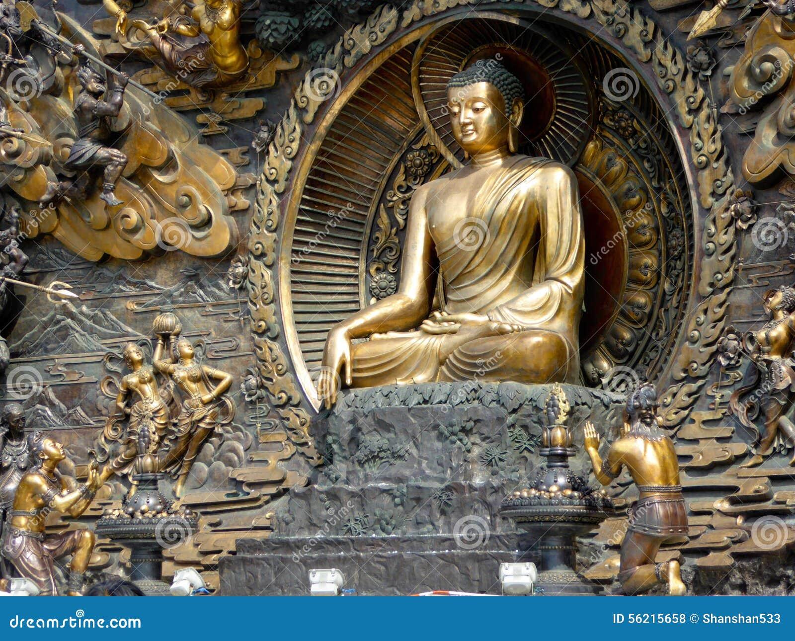 buddha murals statue at lingshan stock photo image 56215658 bronze buddha