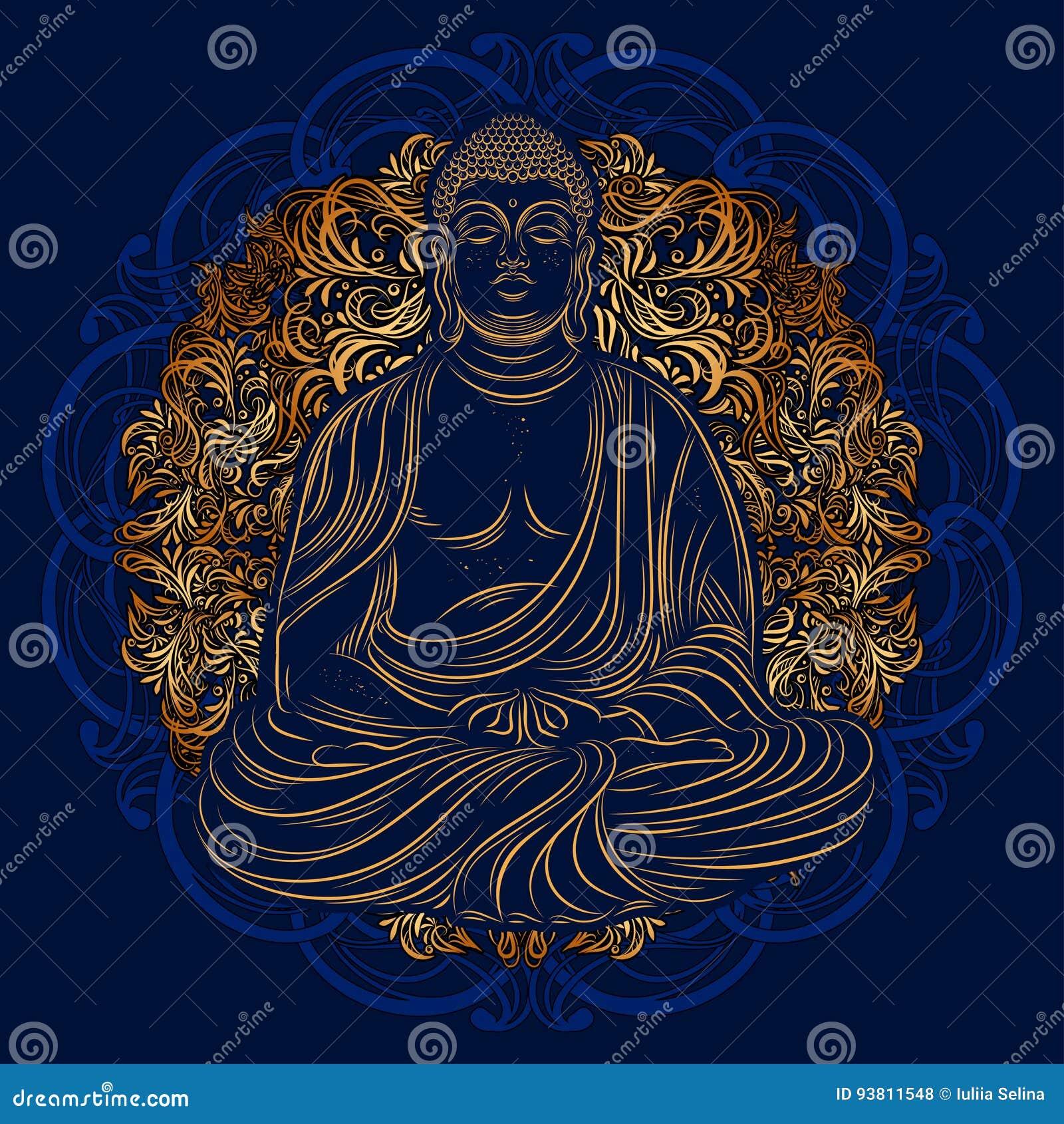 Buddha In Nirvana Stock Illustration Illustration Of Nirvana 93811548