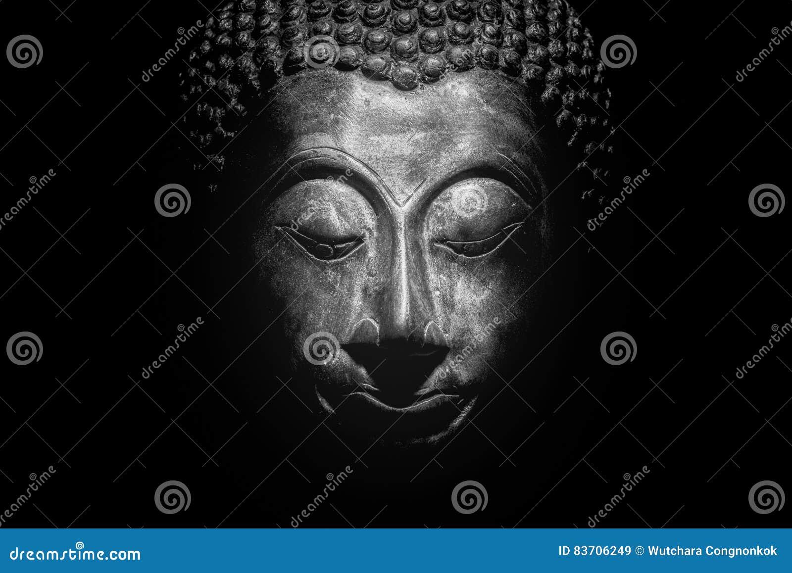 Buddha Portrait Isolated. Stock Photo