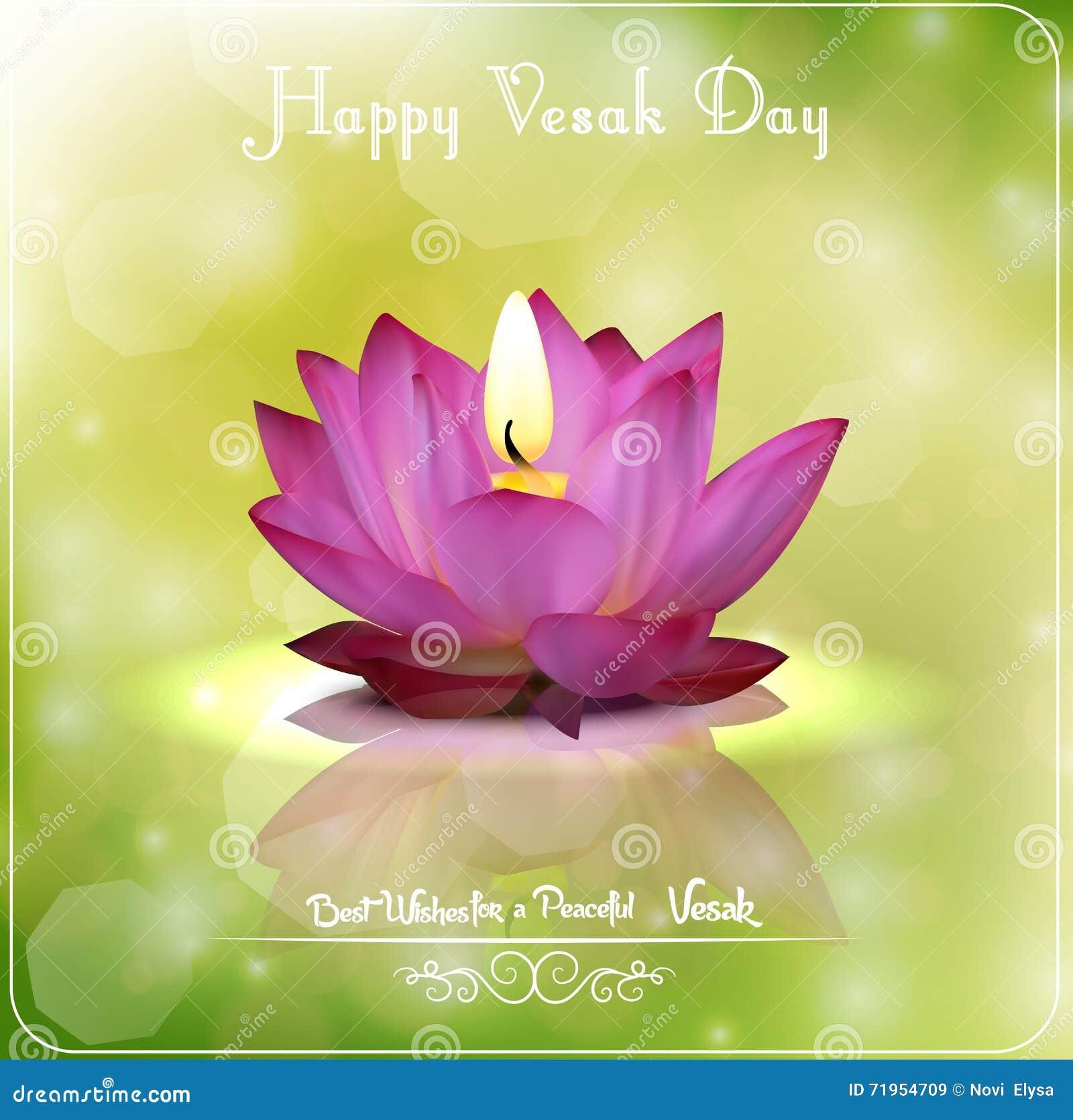 Happy Vesak Day Greeting Emblem Cartoon Vector Cartoondealer