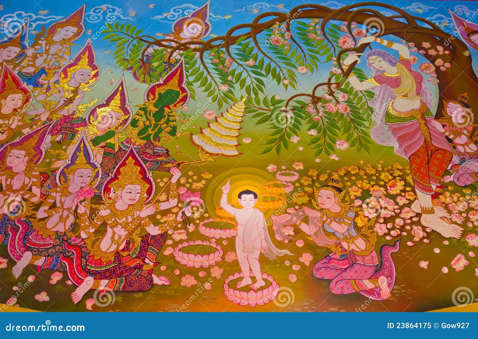 Buddha's Biography: Birth Of The Buddha Royalty Free Stock Photo ...