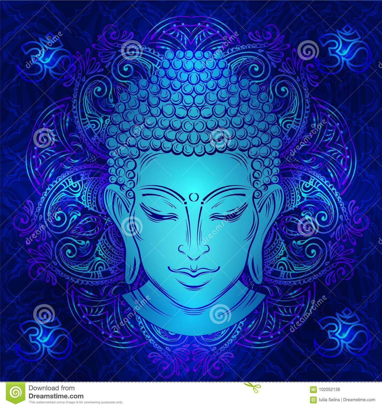 Buddha`s head tattoo stock vector  Illustration of page