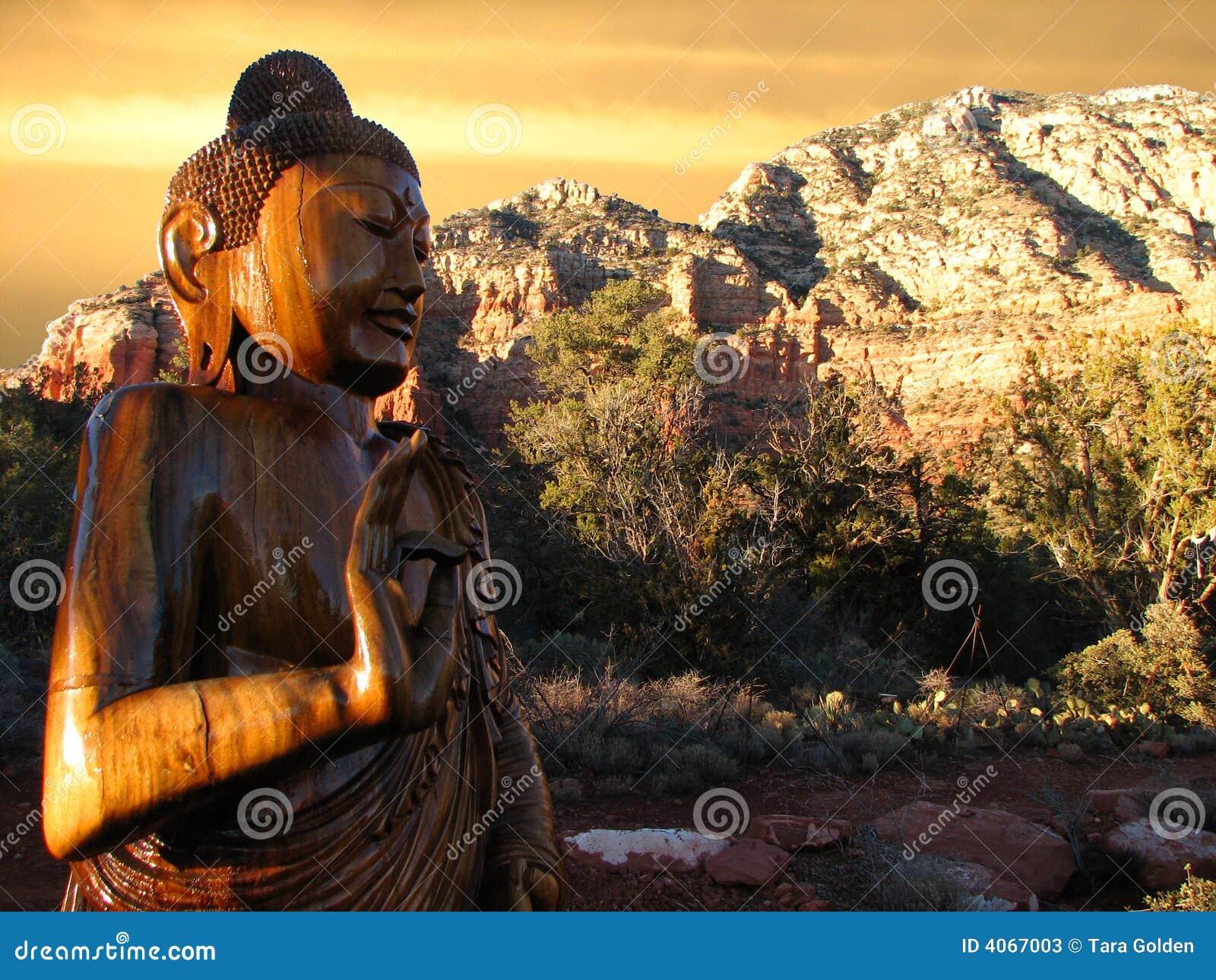 Buddha sedonasolnedgång