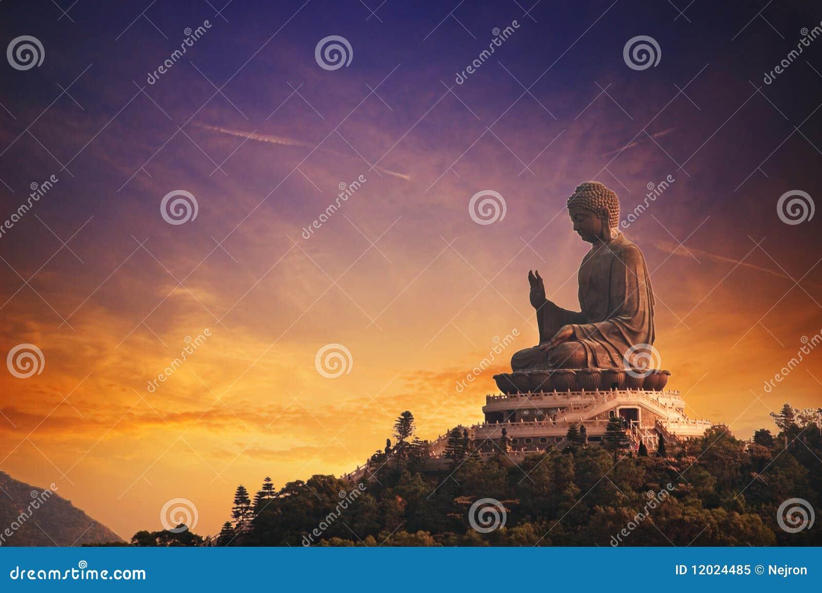 Buddha solbränt tian