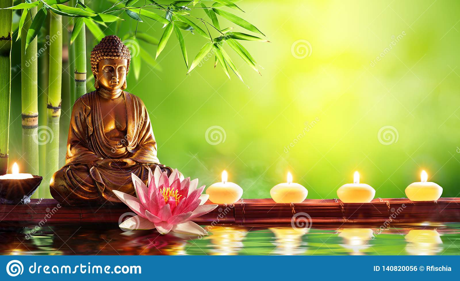 Buddha Statue With Candles