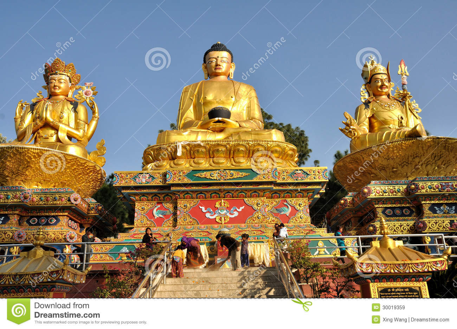 Buddha Statue editorial stock image. Image of chorten ...
