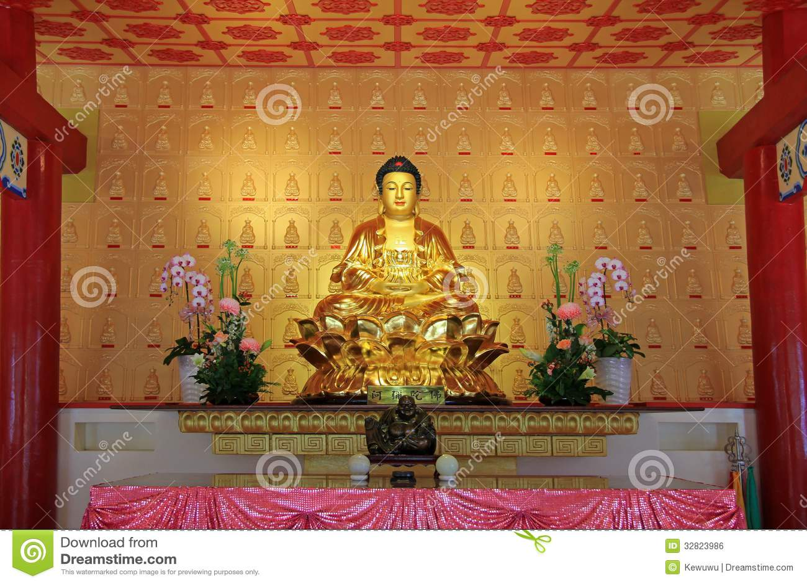 Buddha statue sitting on lotus flower stock photo image of scenery buddha statue sitting on lotus flower izmirmasajfo