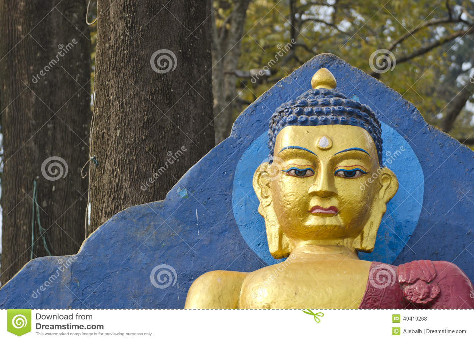 Download Buddha-Statuenfragment In Kathmandu, Nepal Stockfoto - Bild von katmandu, schwarzes: 49410268