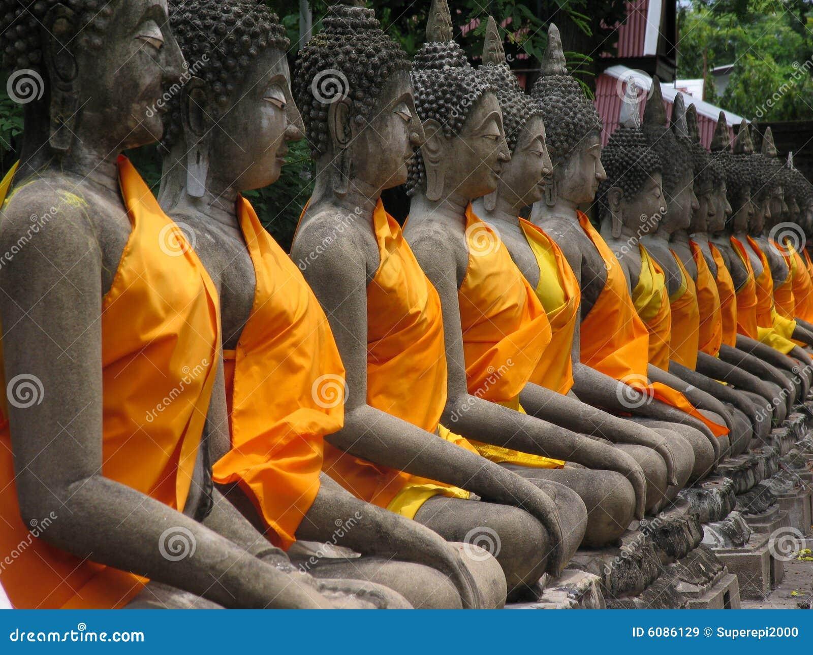 Buddha statues. Thailand