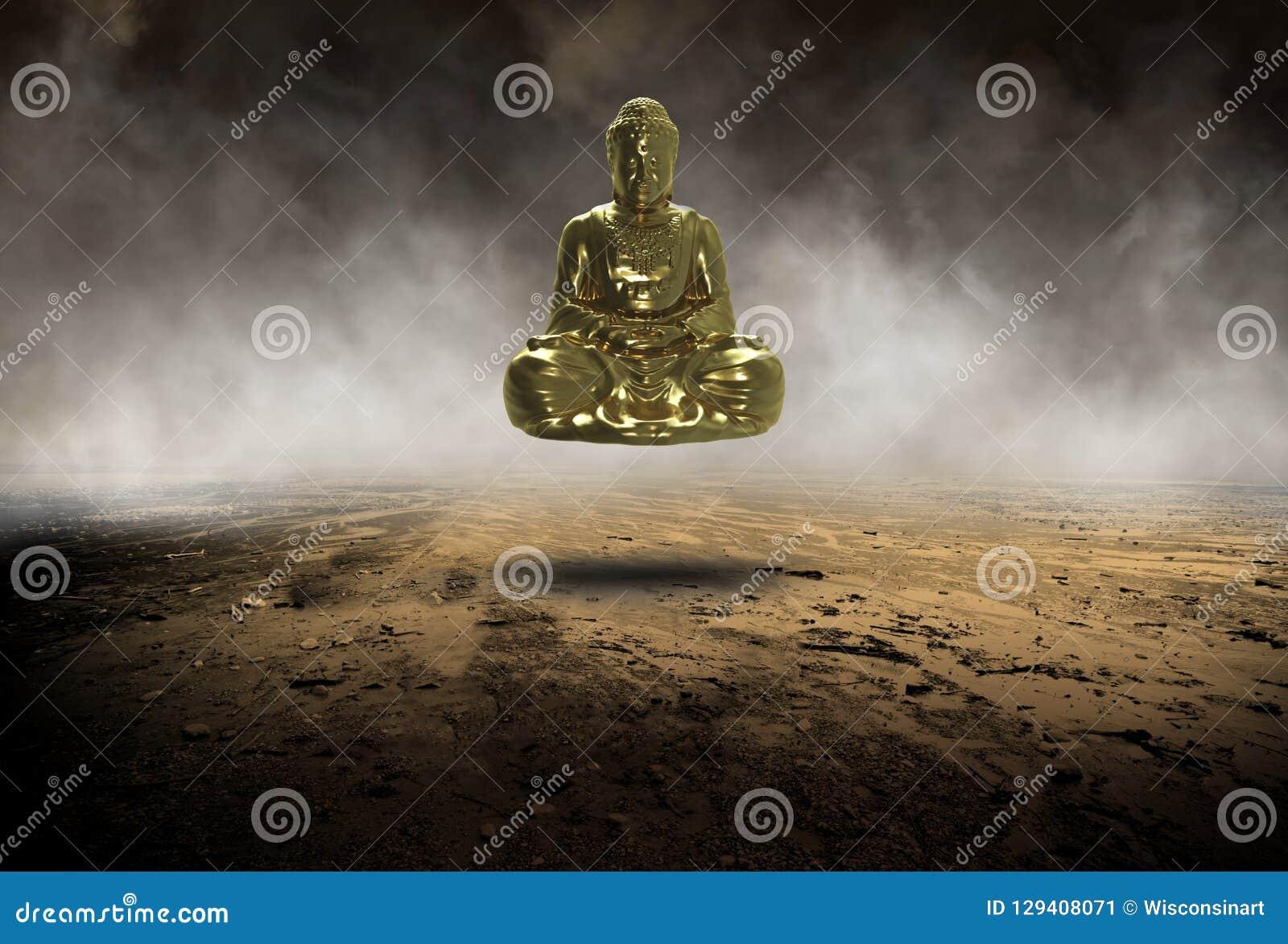 Buddha surreale, Buddist, buddismo, statua, religione