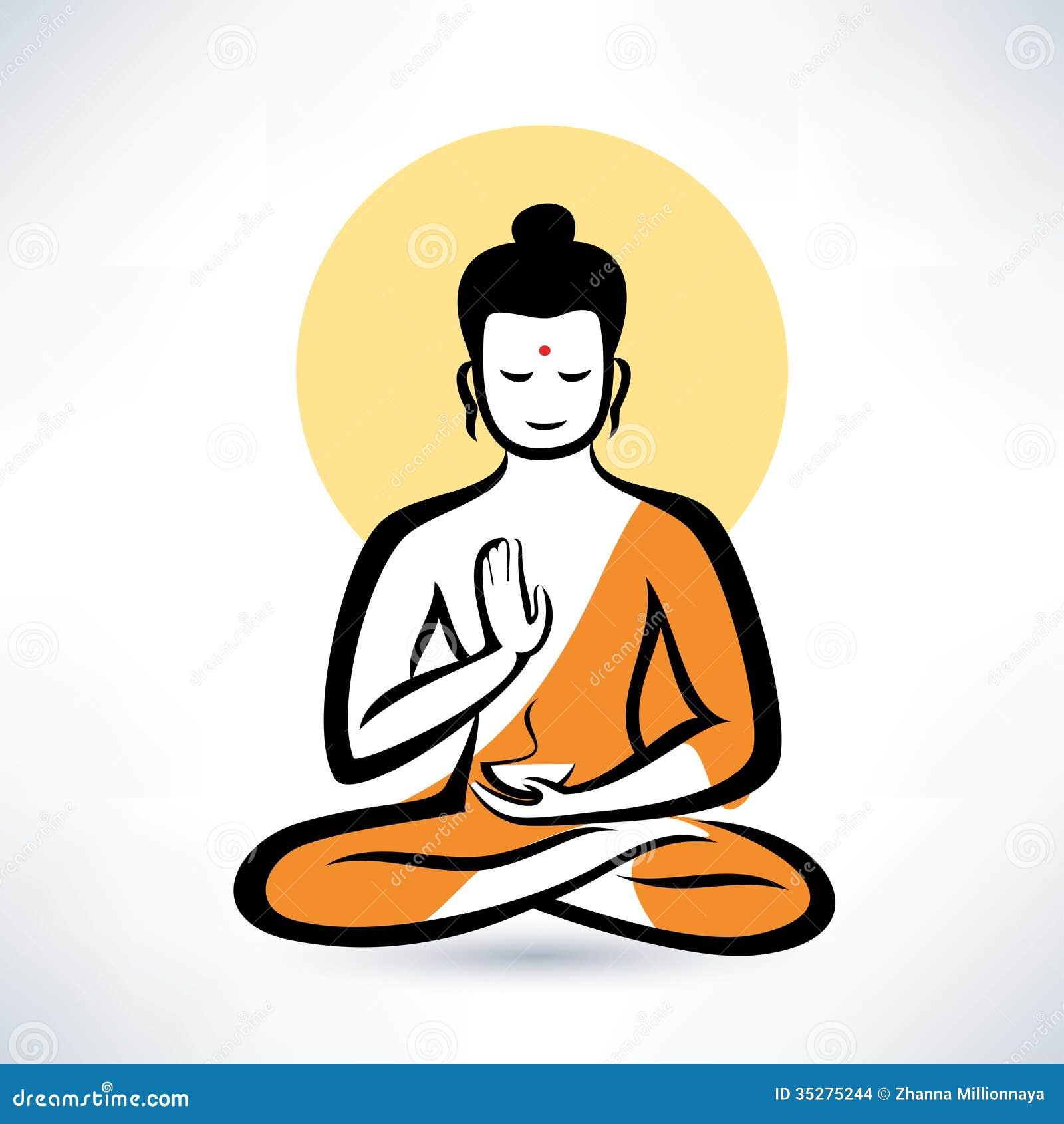 Buddha symbol stock vector illustration of serene peace 35275244 buddha symbol biocorpaavc