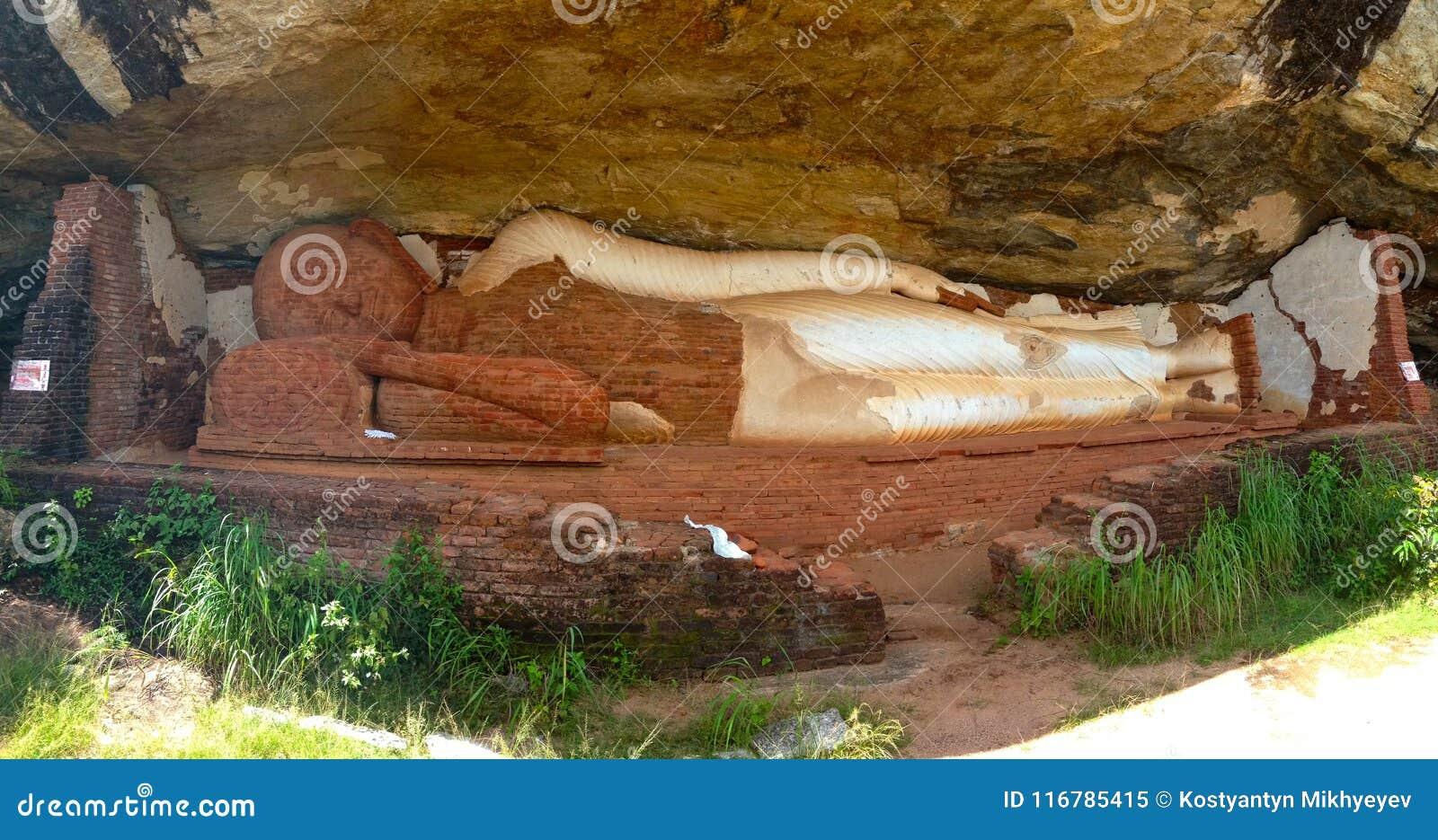 Buddha under the rock of Sigiriya