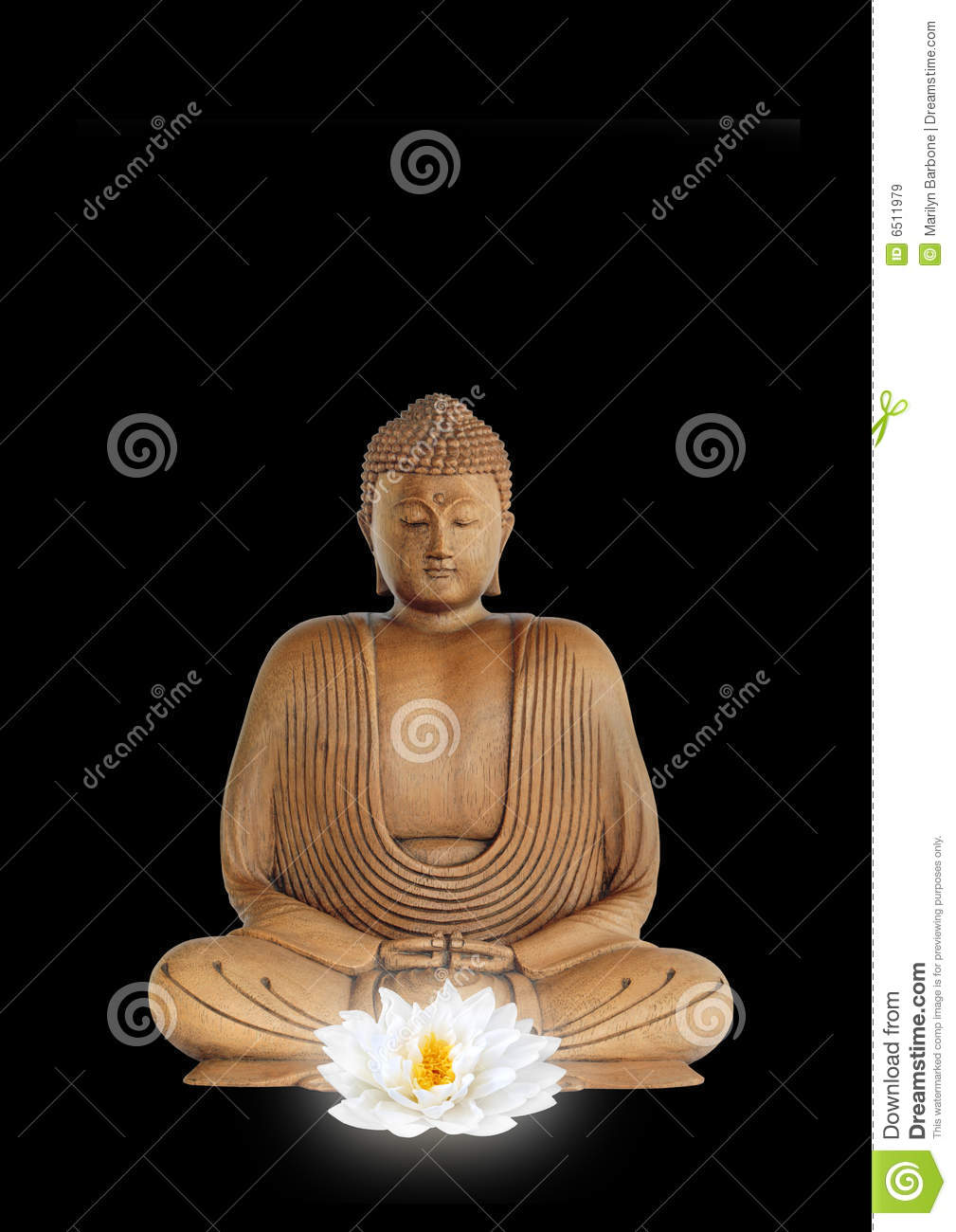 Buddha And White Lotus Flower Stock Image Image Of Enlightenment