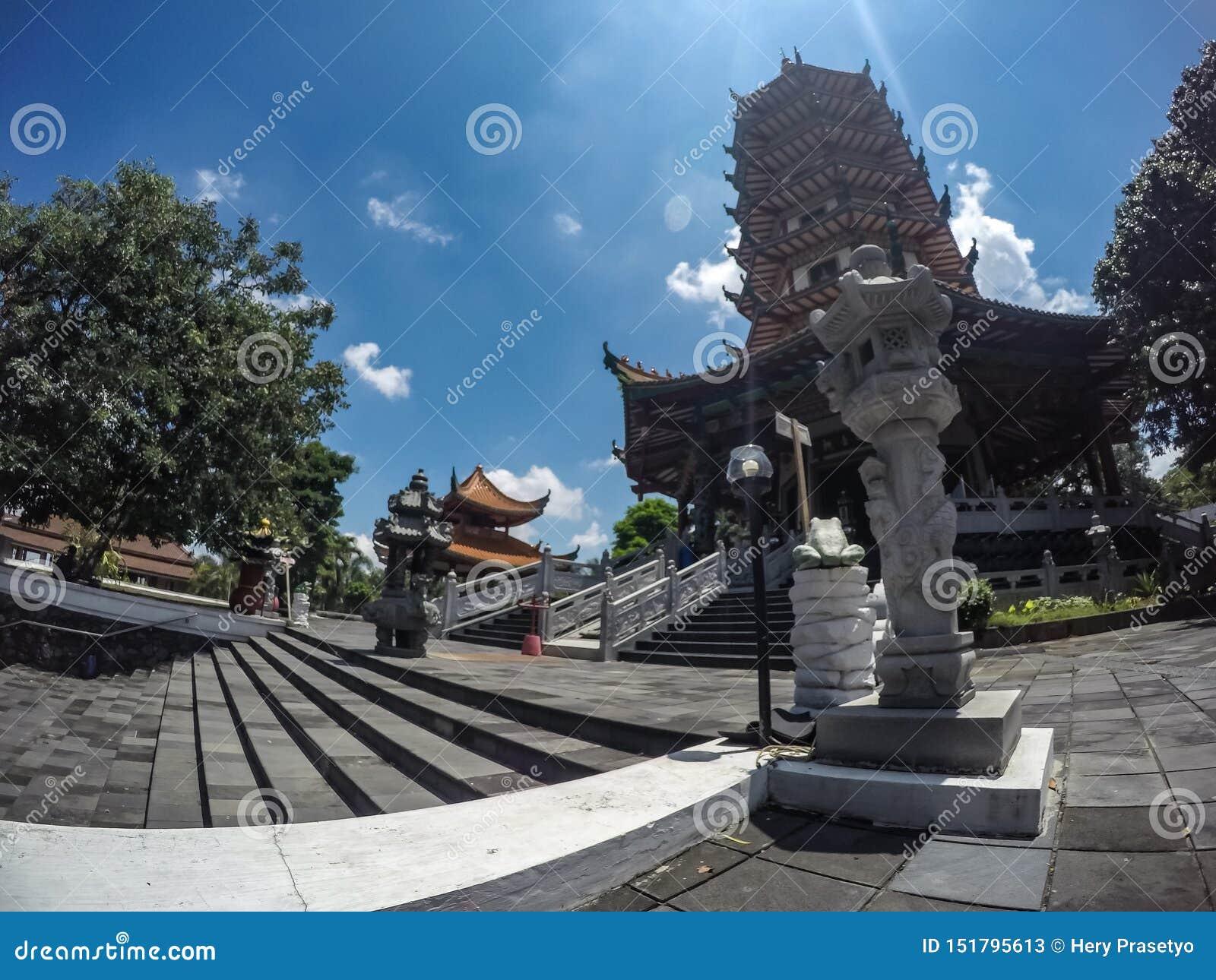 Buddhagayatempel in Semarang, Centraal Java, Indonesië