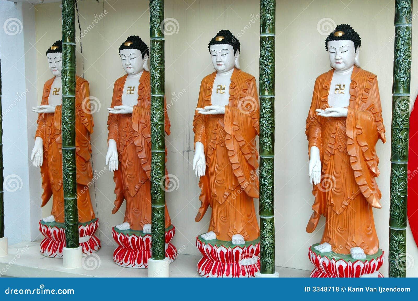 Buddhas in een rij