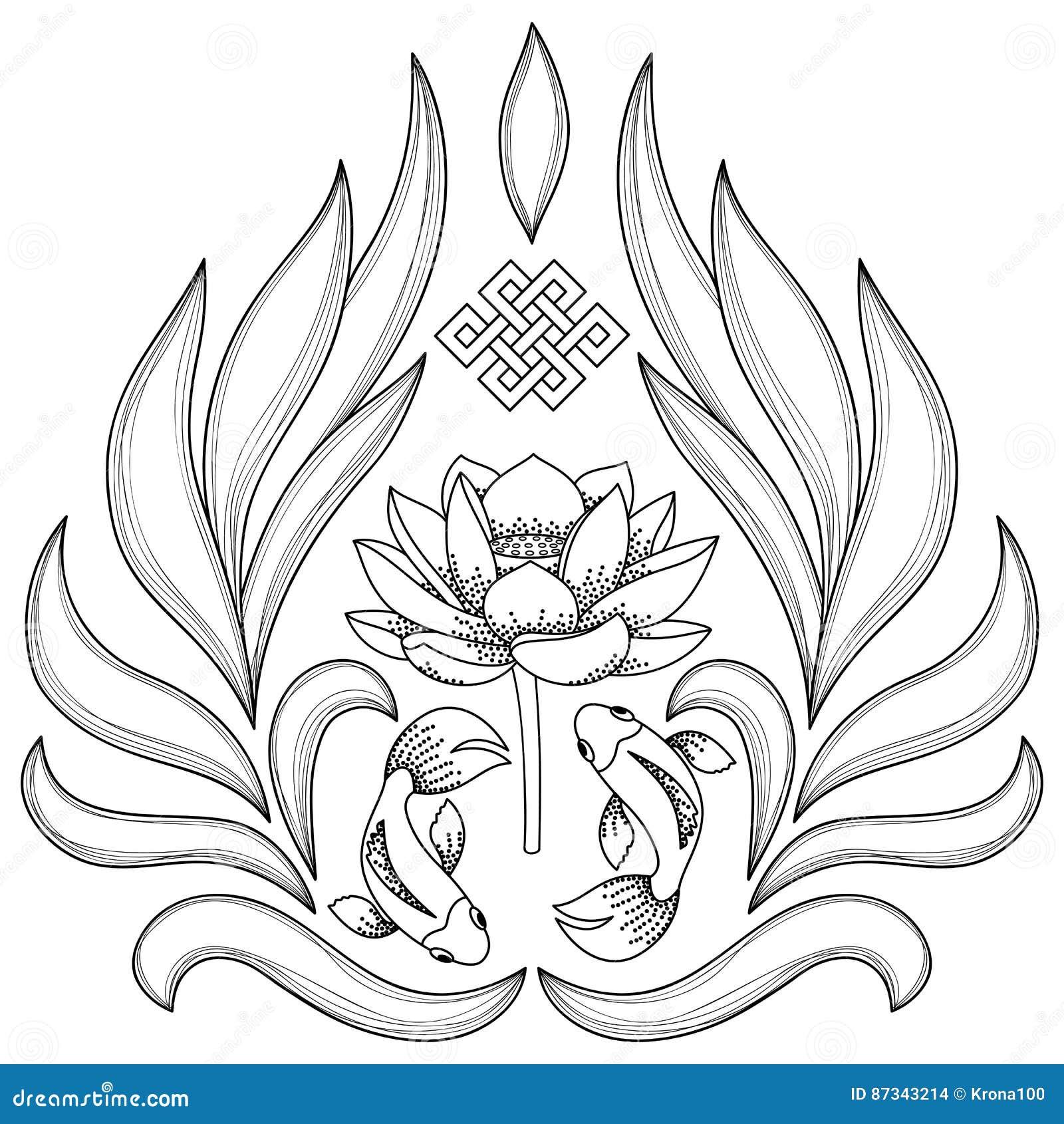 Buddhism symbols pattern stock vector illustration of religion buddhism symbols pattern biocorpaavc