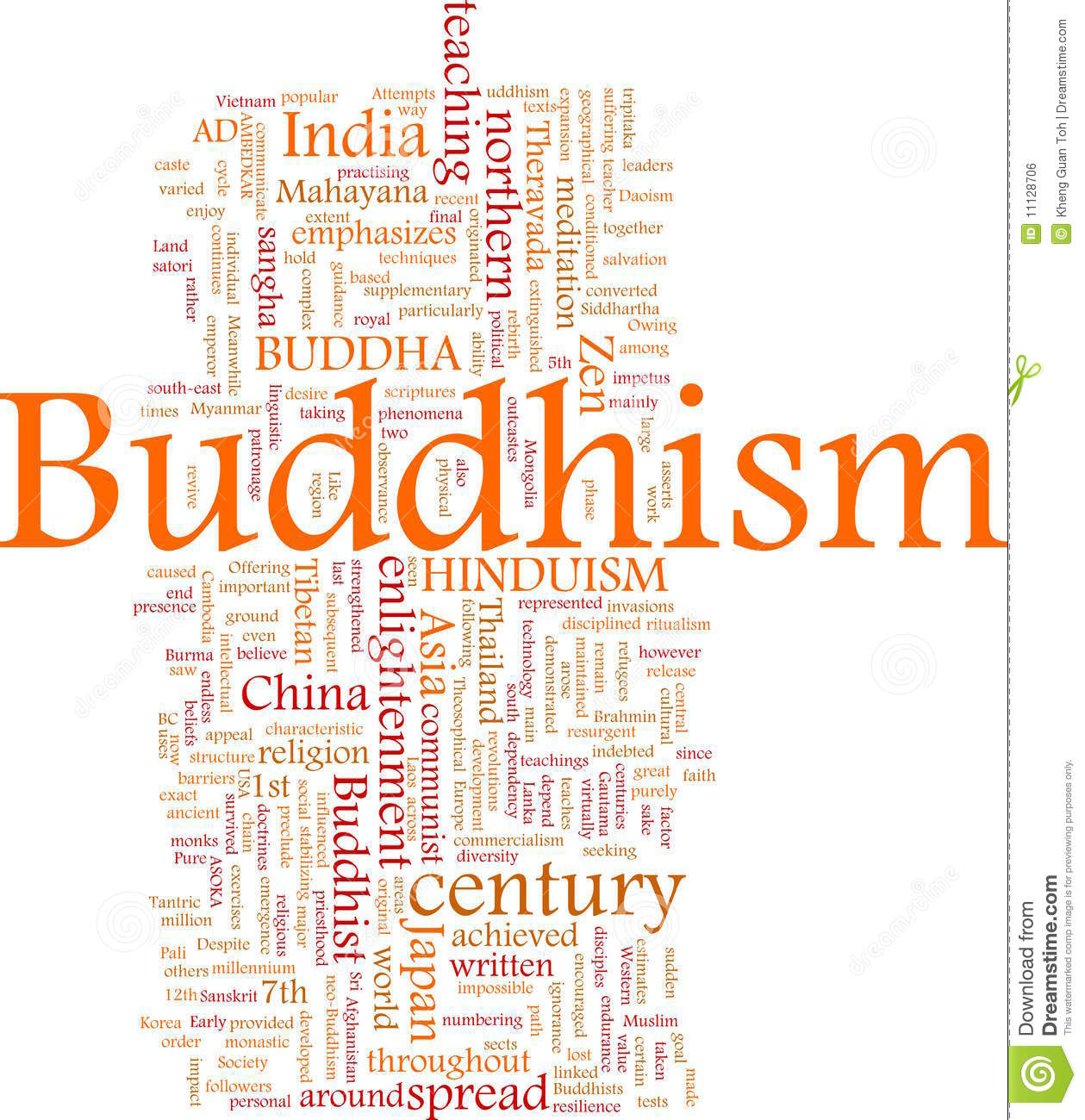 Buddhism word cloud stock illustration illustration of buddhism word cloud kristyandbryce Image collections