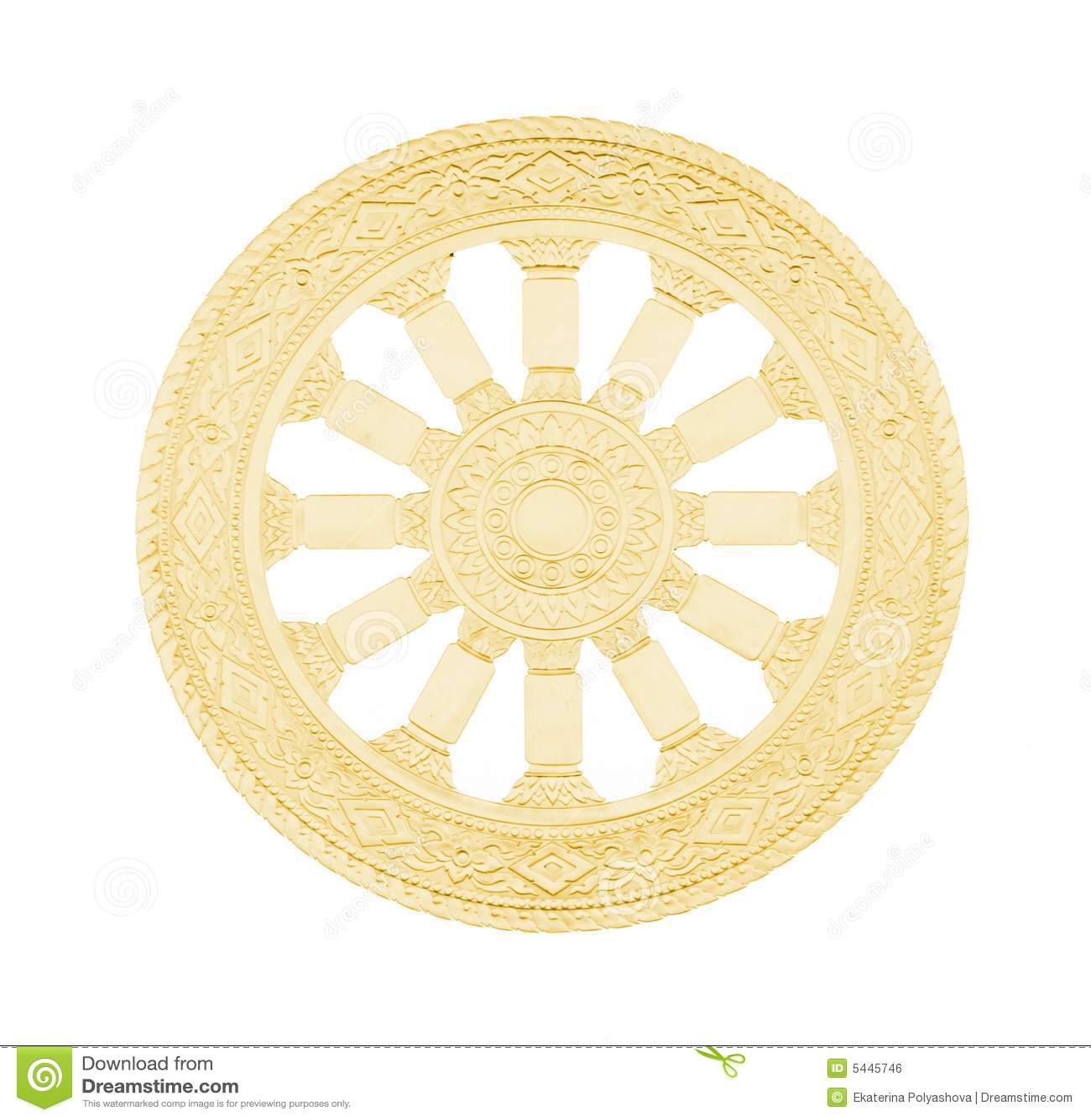 Buddhismus Symbol Rad Des Lebens Stockfoto Bild Von Religion