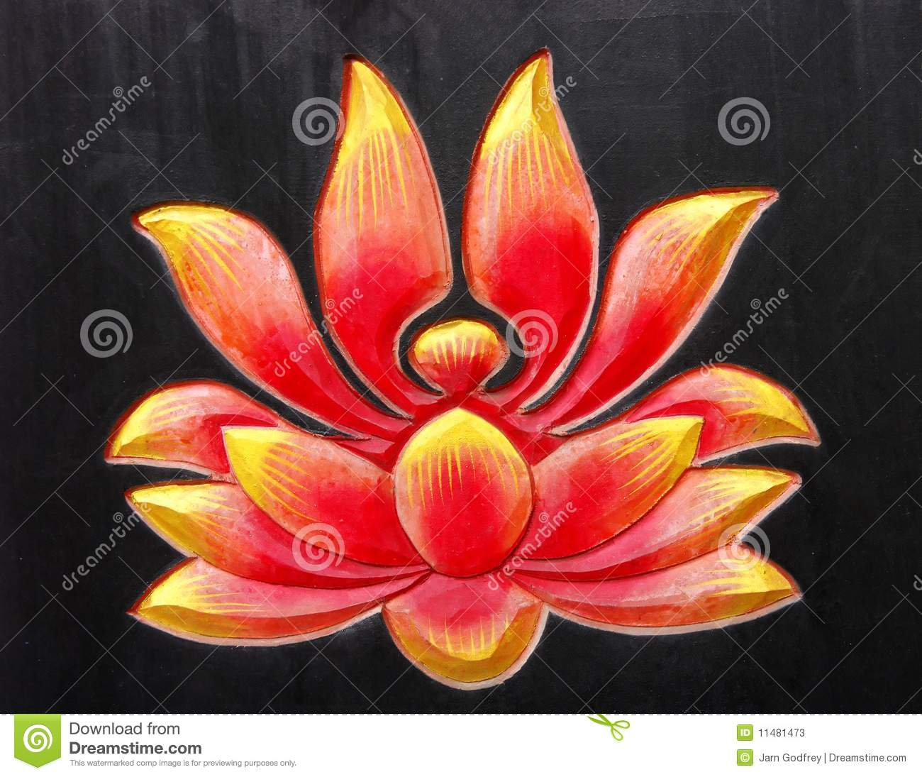 The Godfrey House Plan Buddhist Lotus Design Stock Photos Image 11481473