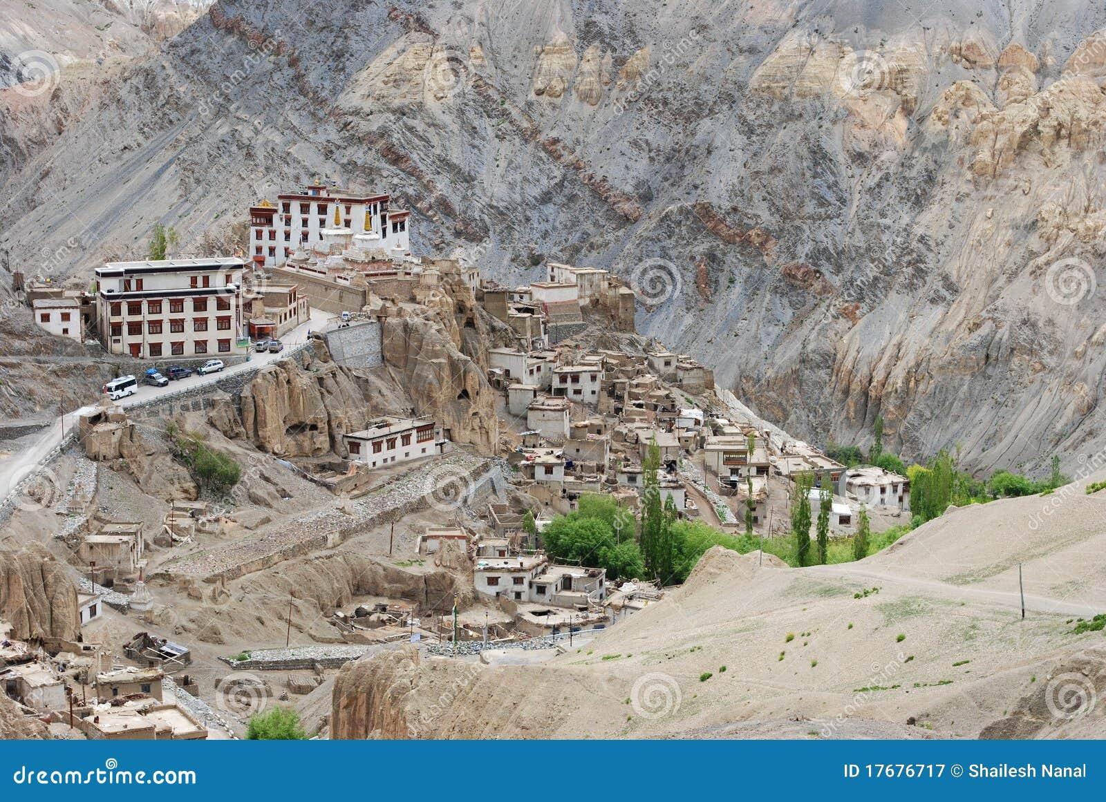 Buddhist Monasteries In Ladakh Valley Royalty Free Stock ...