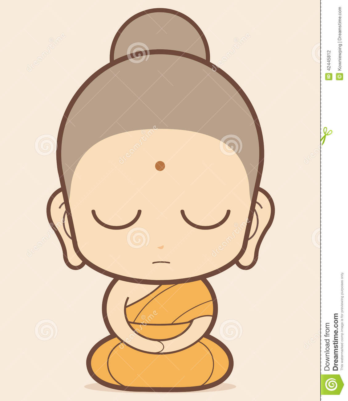 Buddhist Monk cartoon, Buddhist Monk cartoon, thailand.