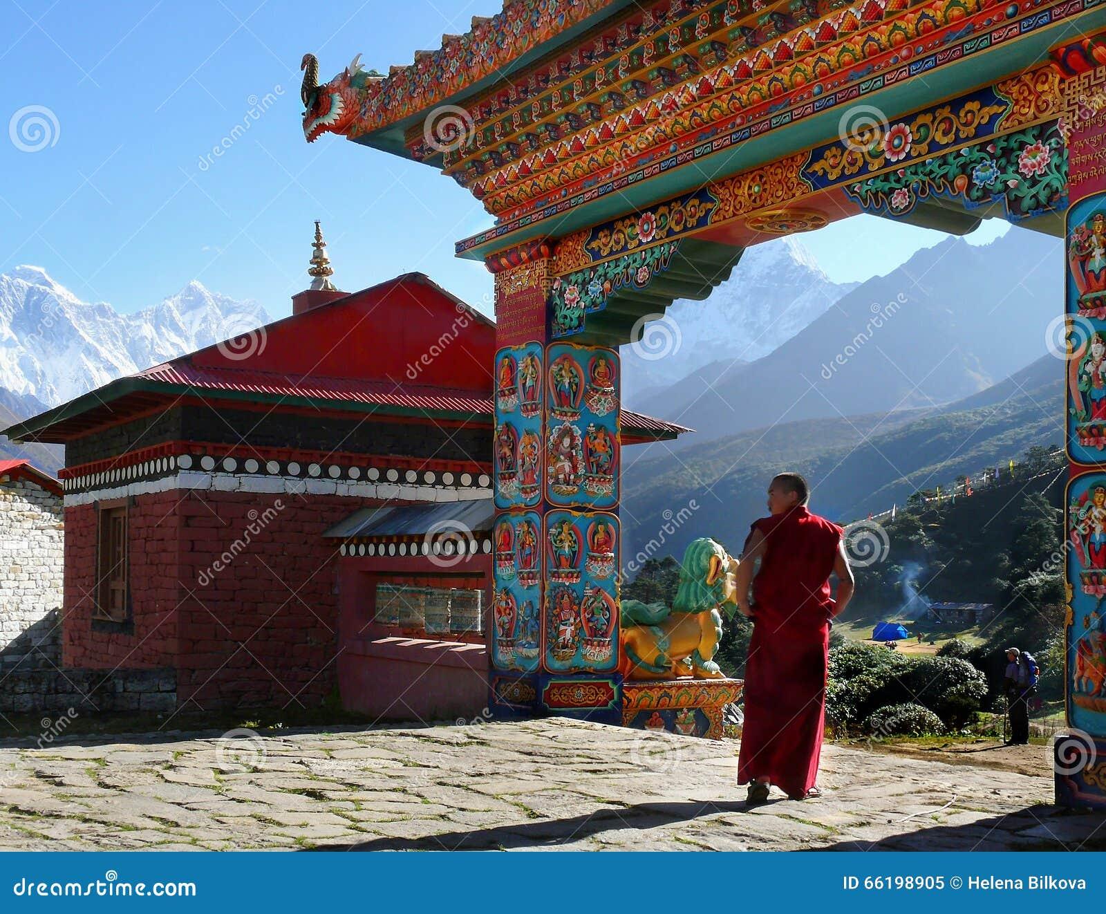 Buddhist Monk Monastery Himalayas