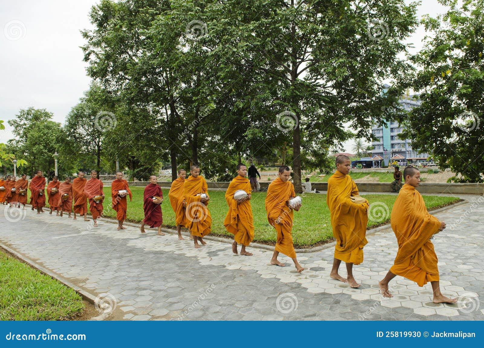 Download Buddhist Monks In Battambang Cambodia Editorial Image - Image of monks, battambang: 25819930