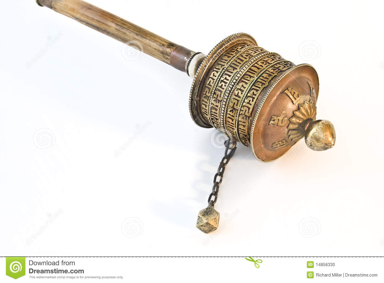 Download Buddhist prayer wheel stock photo. Image of turn, ritual - 14856330