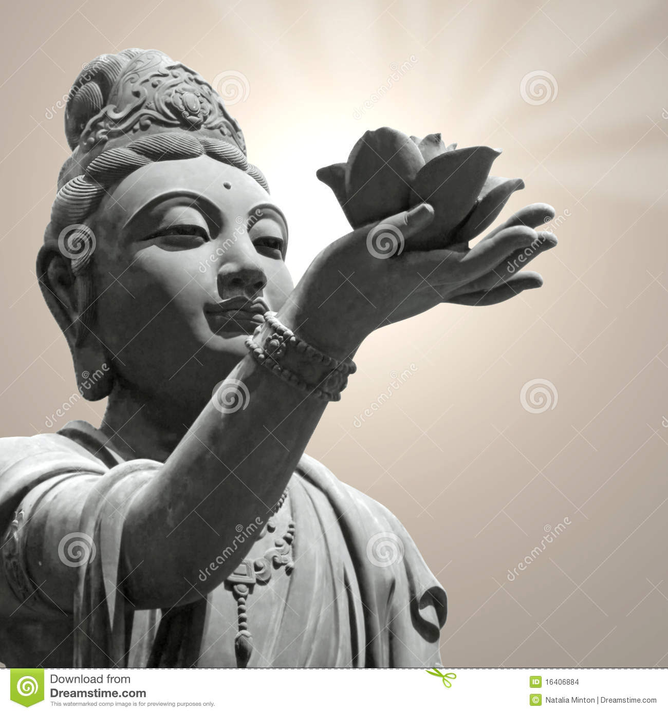 Buddhist statue holding lotus flower stock photo image of hand buddhist statue holding lotus flower izmirmasajfo