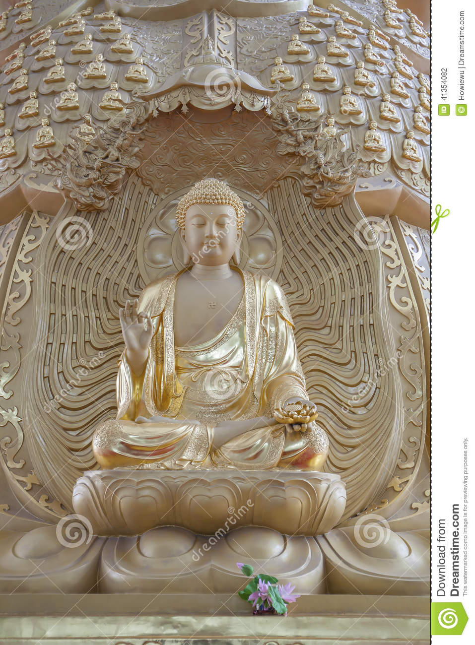 Buddhist statue in a temple in China