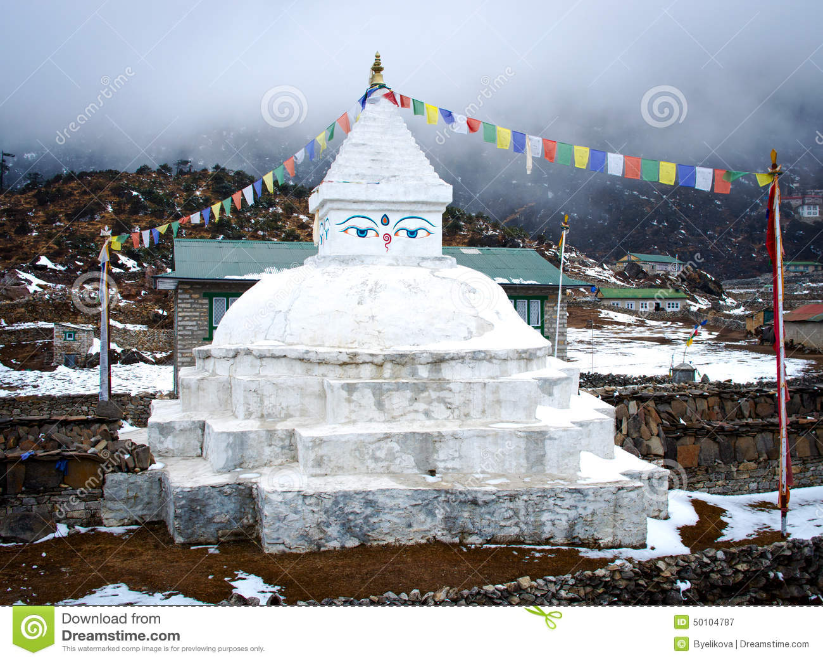 Everest Region (Nepal) Nepal  city images : Buddhist Stupa In Khunde, Nepal Stock Photo Image: 50104787