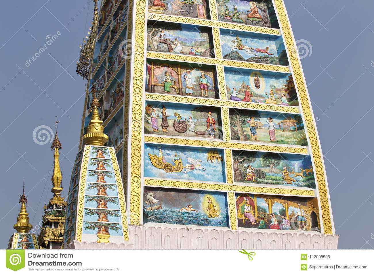Buddhist temple complex shwedagon is a historical symbol of royalty free stock photo biocorpaavc Gallery