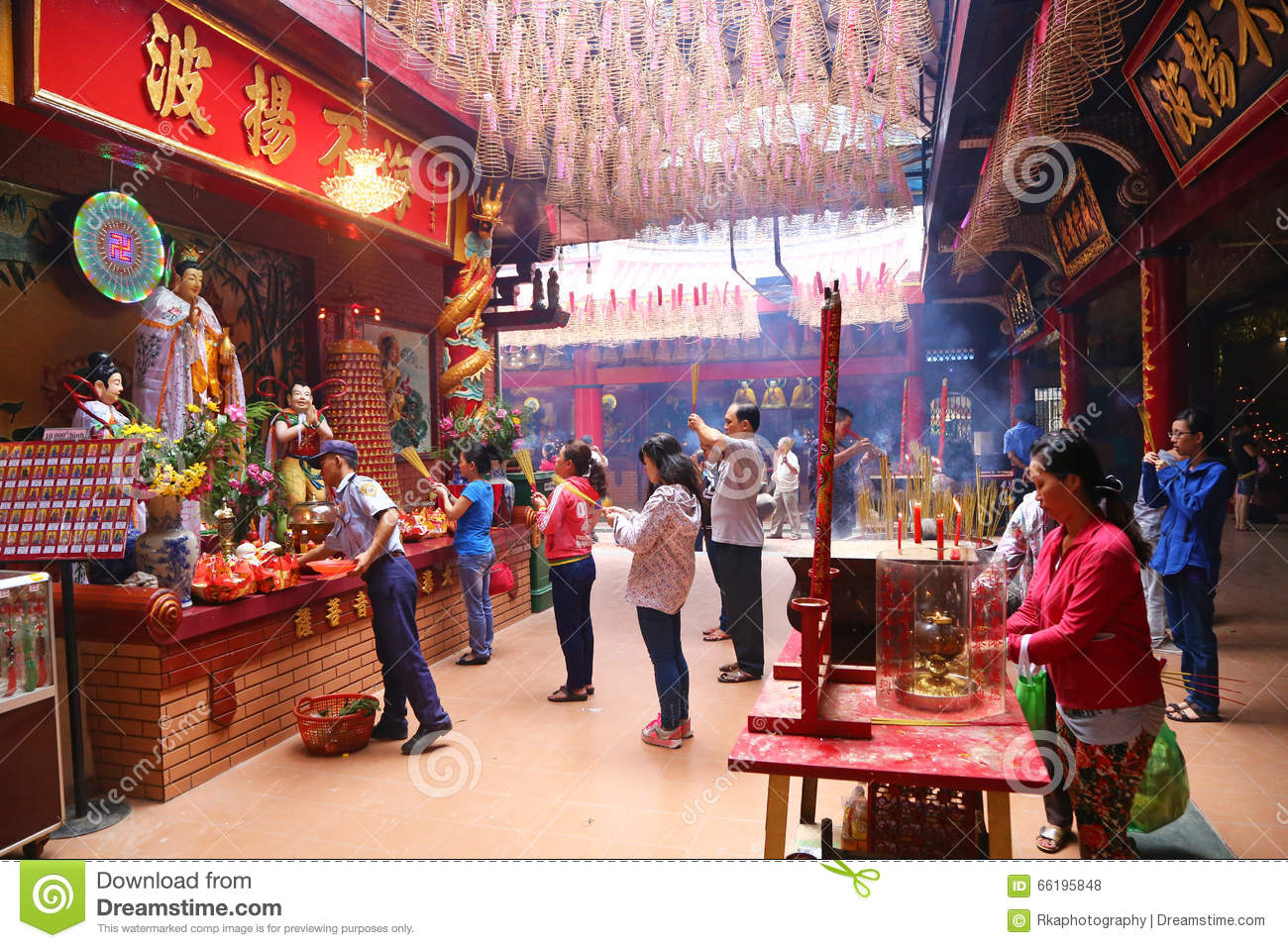 Buddhist Temple In Ho Chi Minh City, Vietnam Editorial Stock Photo