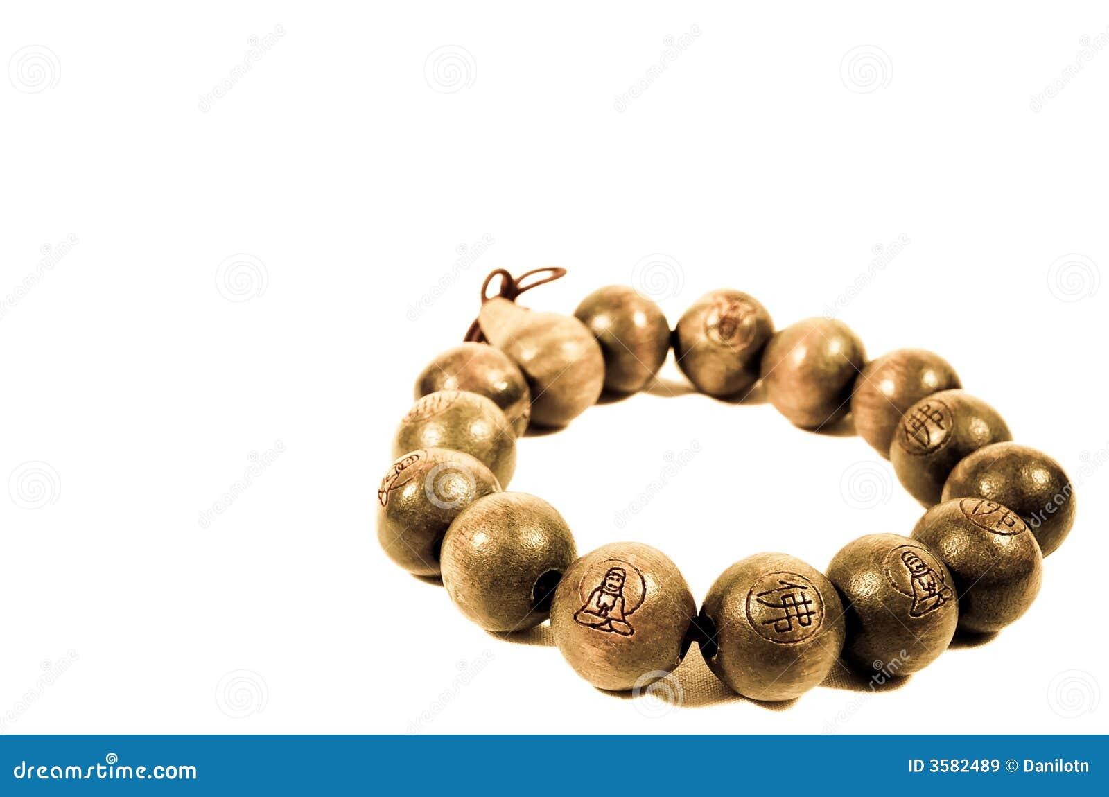 Buddhist Wooden Bead Bracelet
