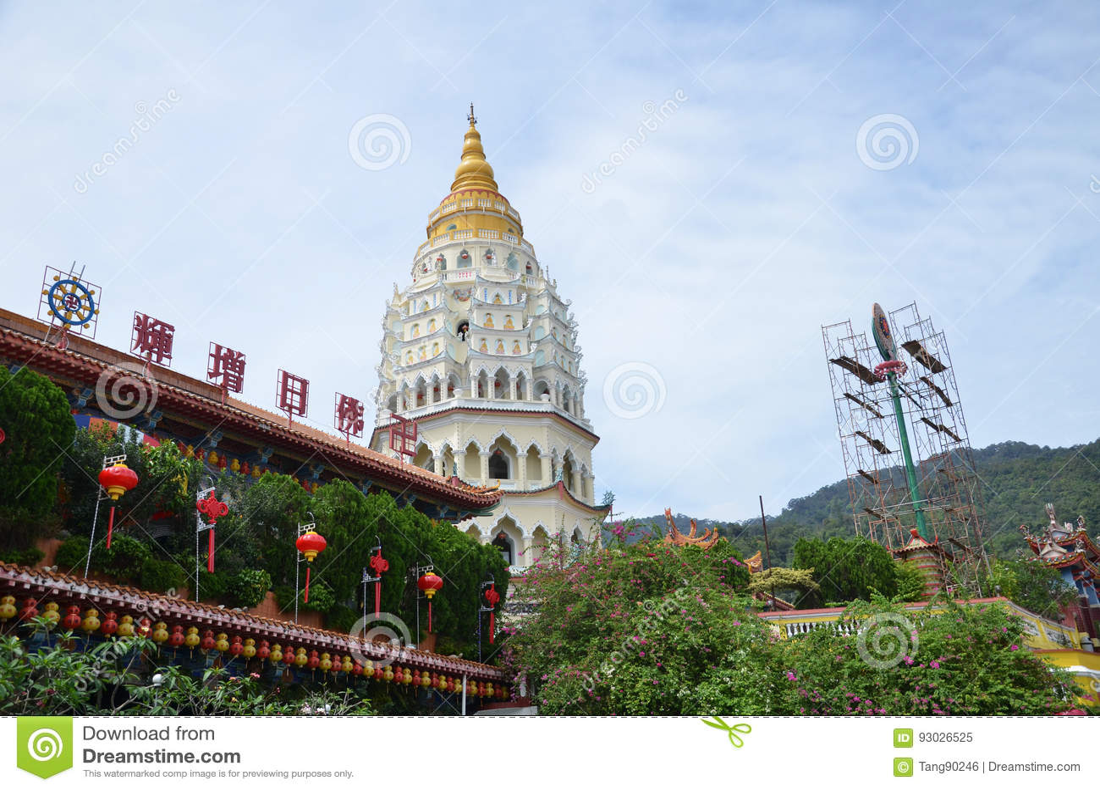 Buddistisk tempel Kek Lok Si i Penang