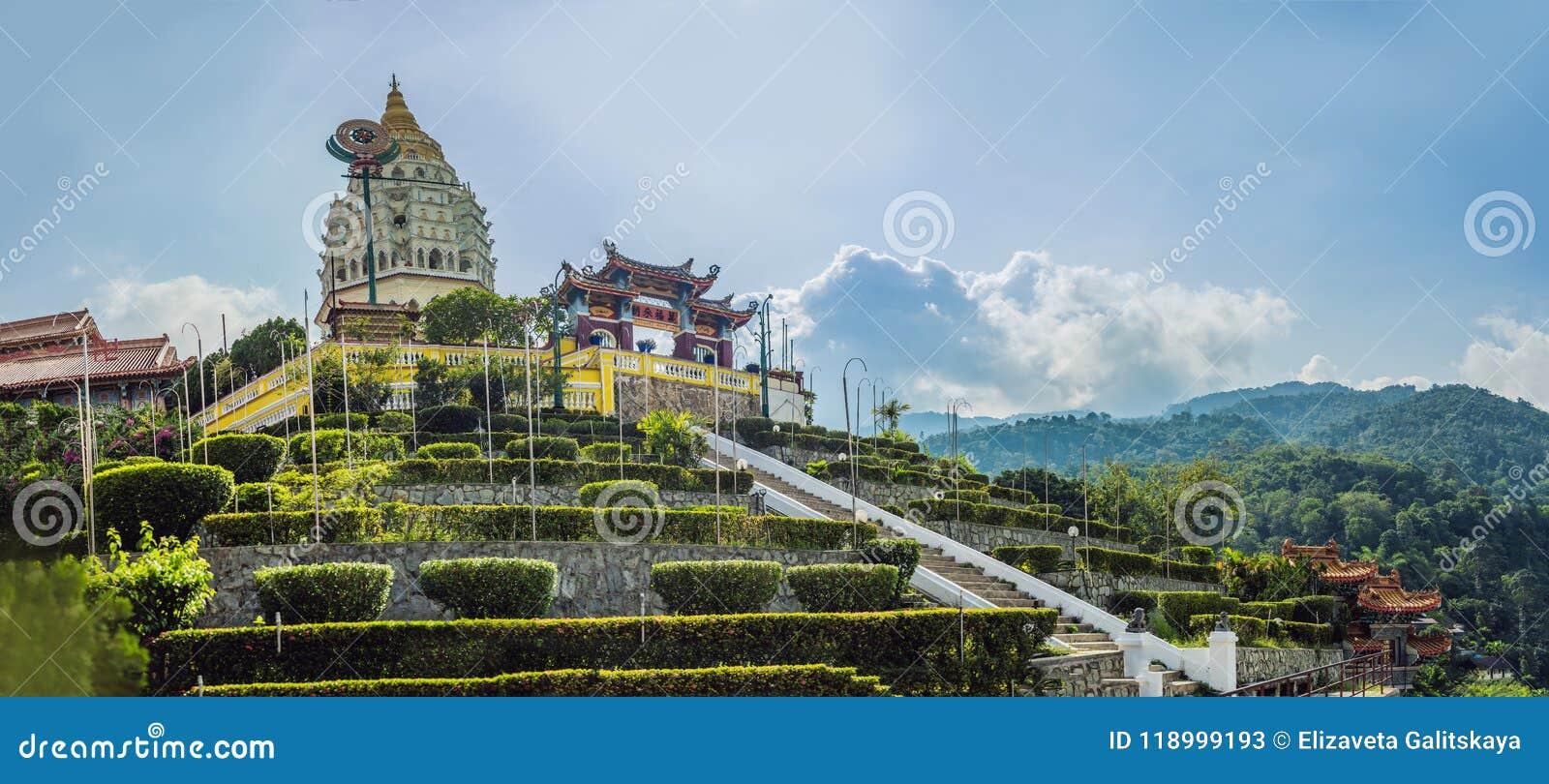 Buddistisk tempel Kek Lok Si i Penang, Malaysia, Georgetown