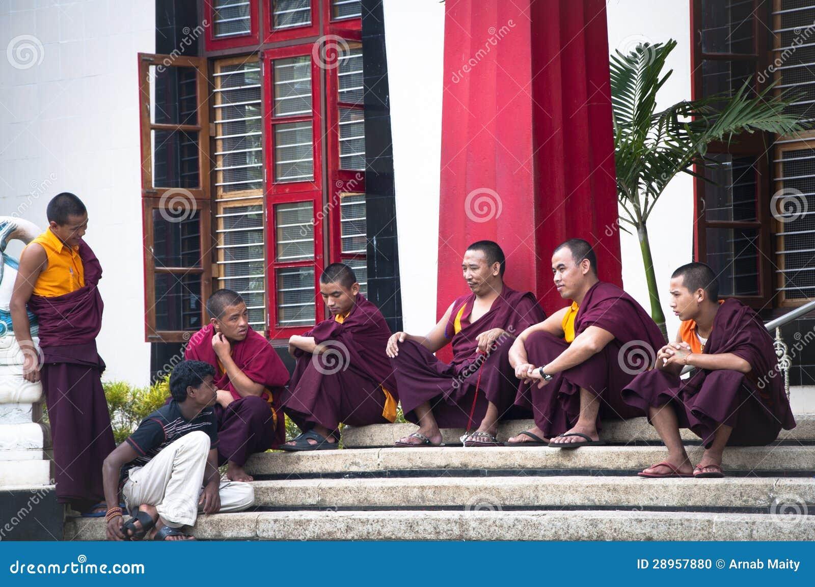 Buddyjscy michaelita Bylakuppe mały Tibet w India