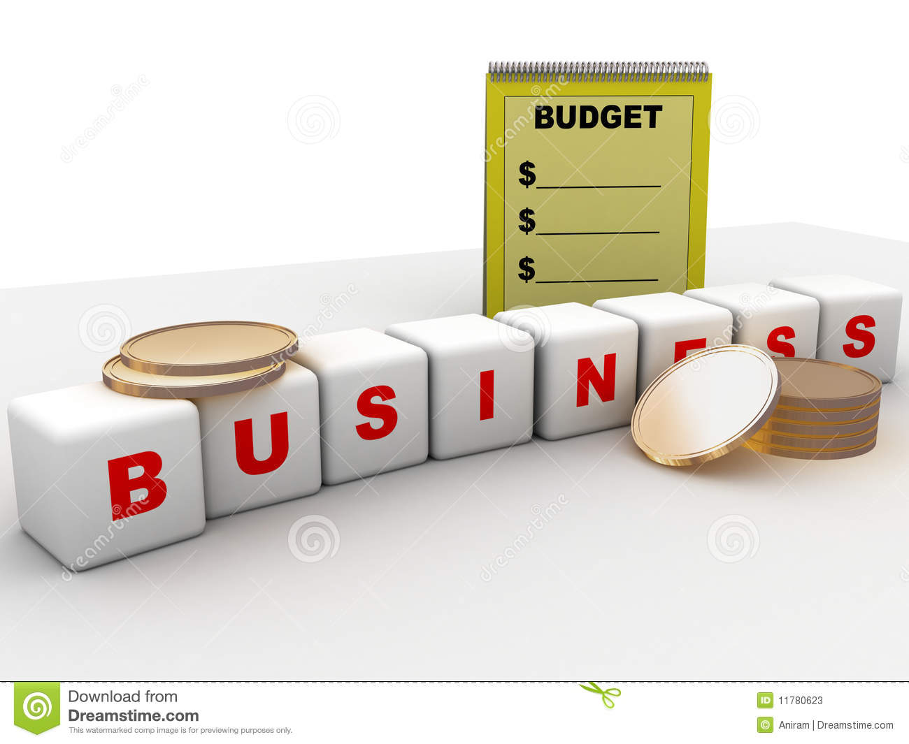 budget and business stock illustration illustration of agenda
