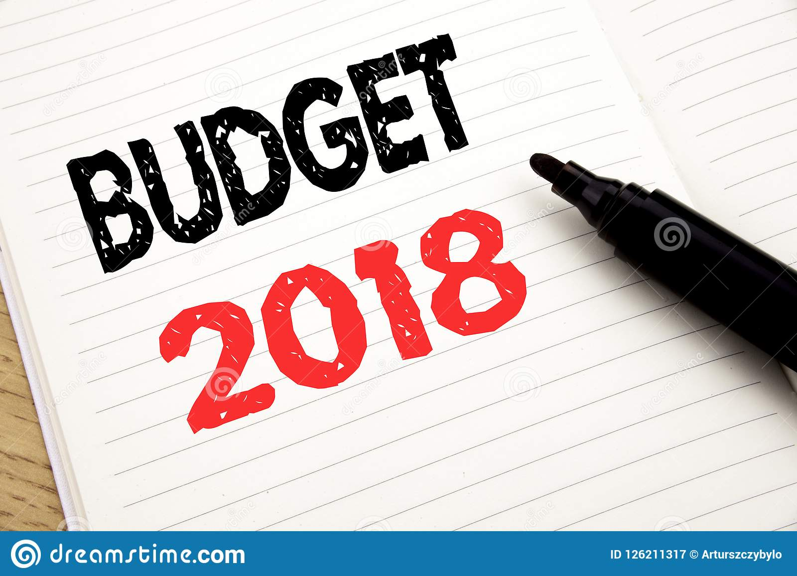 budget 2018 business concept for household budgeting accounting