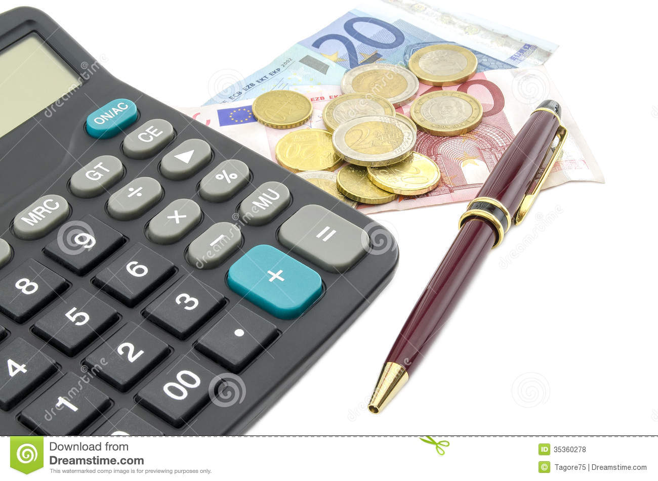 budget calculation stock photo image of ideas stock 35360278