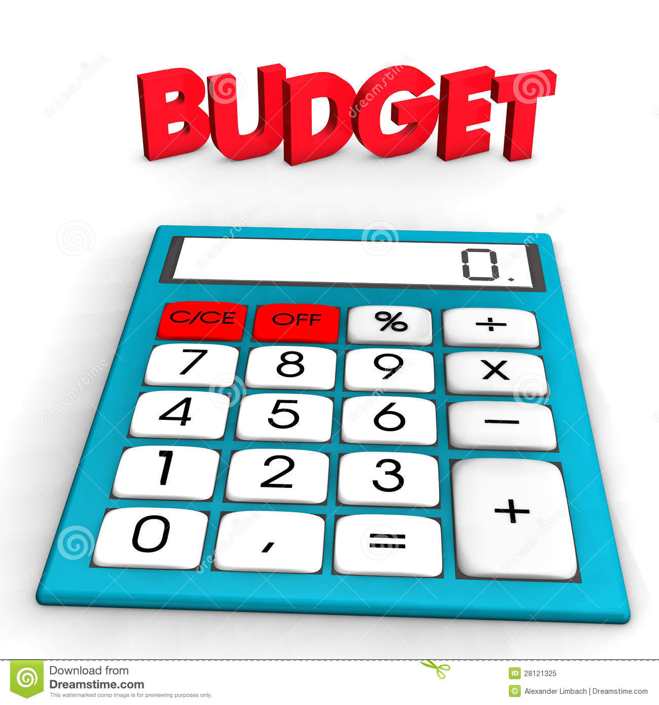 Budget Calculator Royalty Free Stock Photo - Image: 28121325