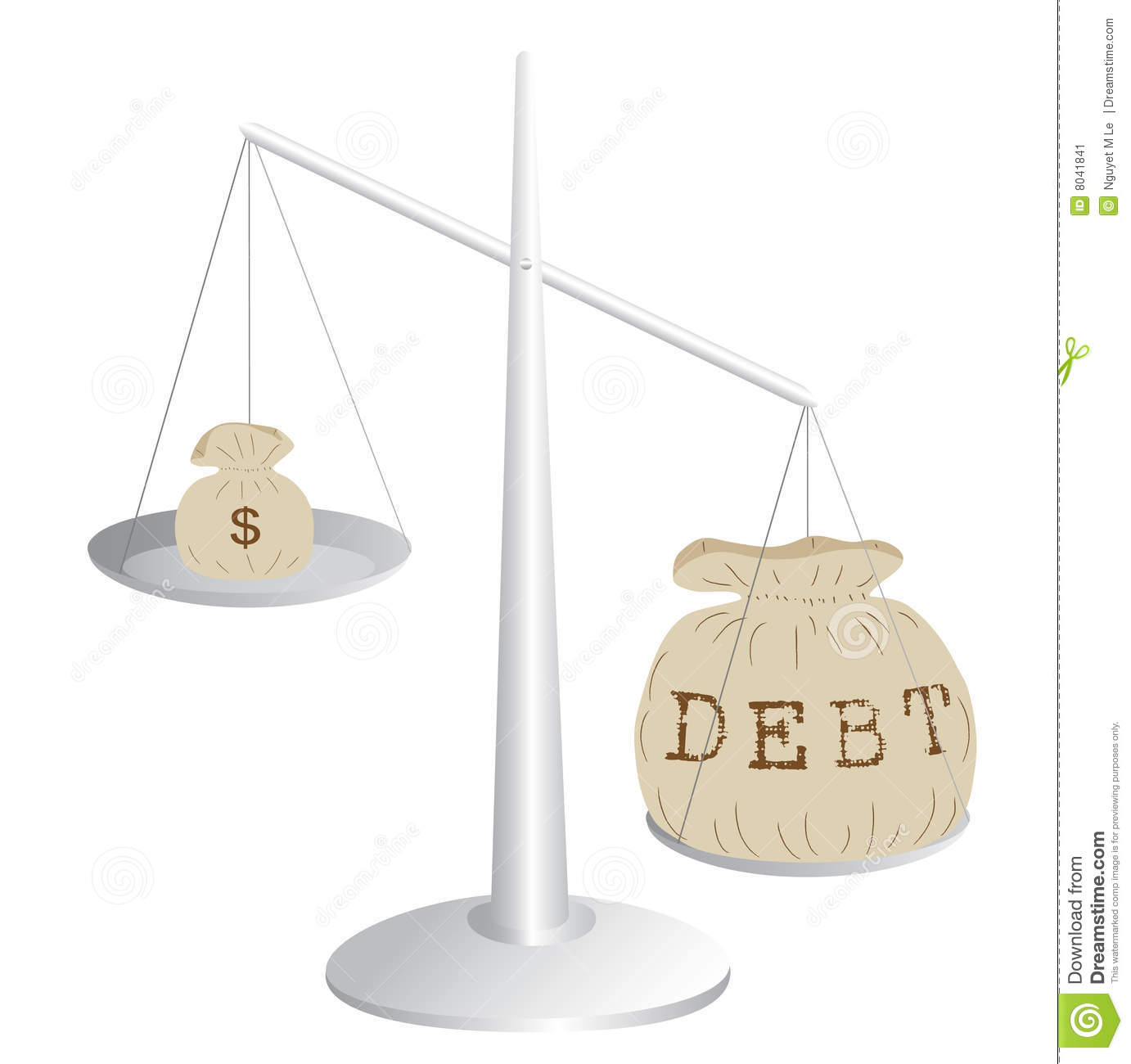 budget deficit stock vector illustration of commodity balance scale clipart balance scale clip art previews 123rf