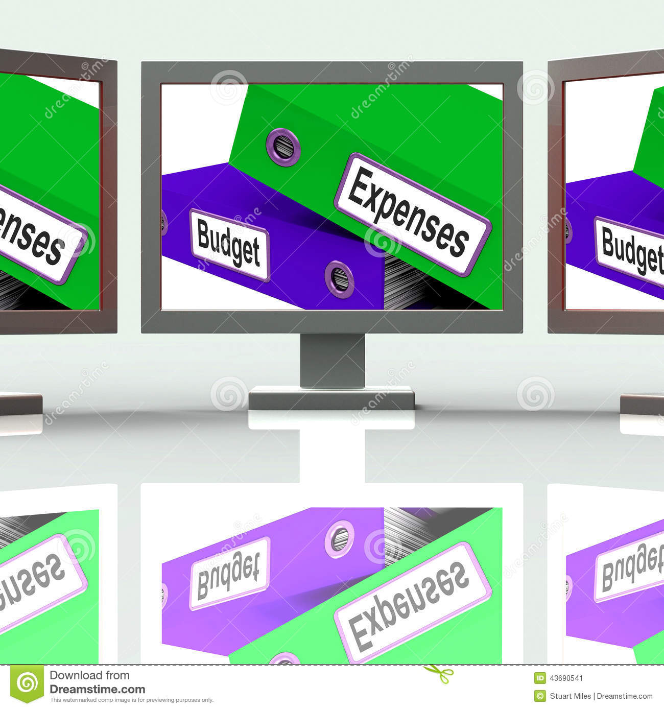 budget expenses screen mean business finances and budgeting stock