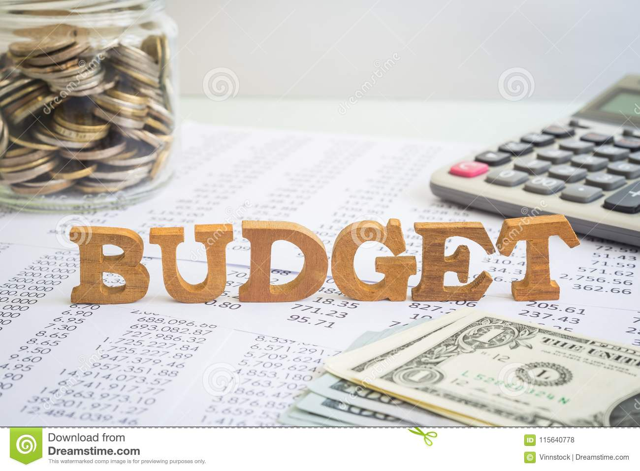 Budget and financial management for business project.