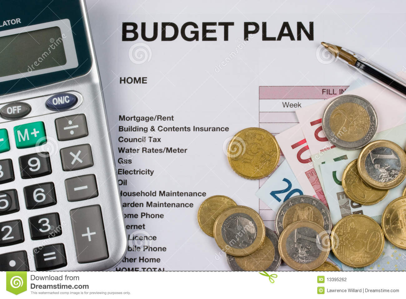 Budget plan stock photography image 13395262 for Design a household budget