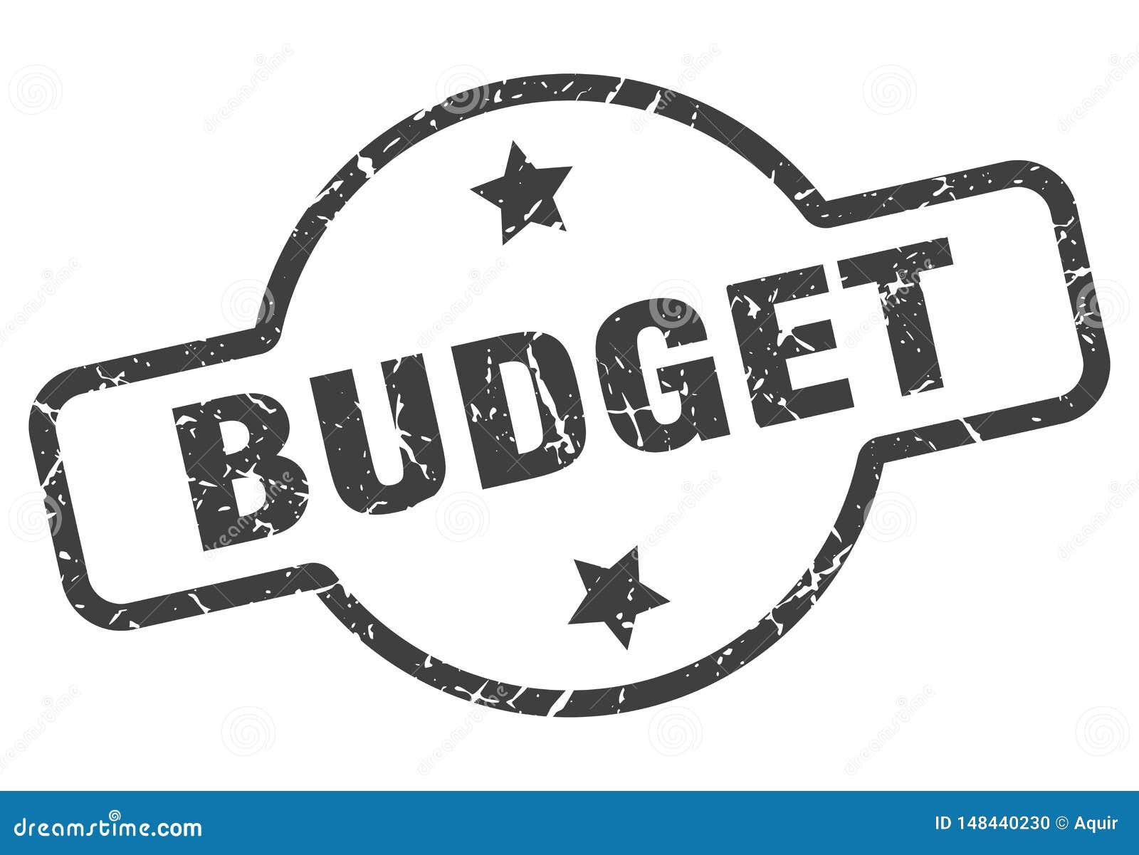 Budget- st?mpel