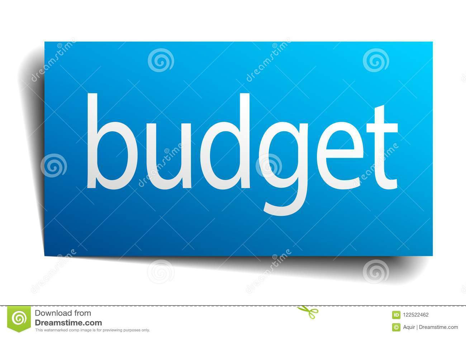 Budget- tecken