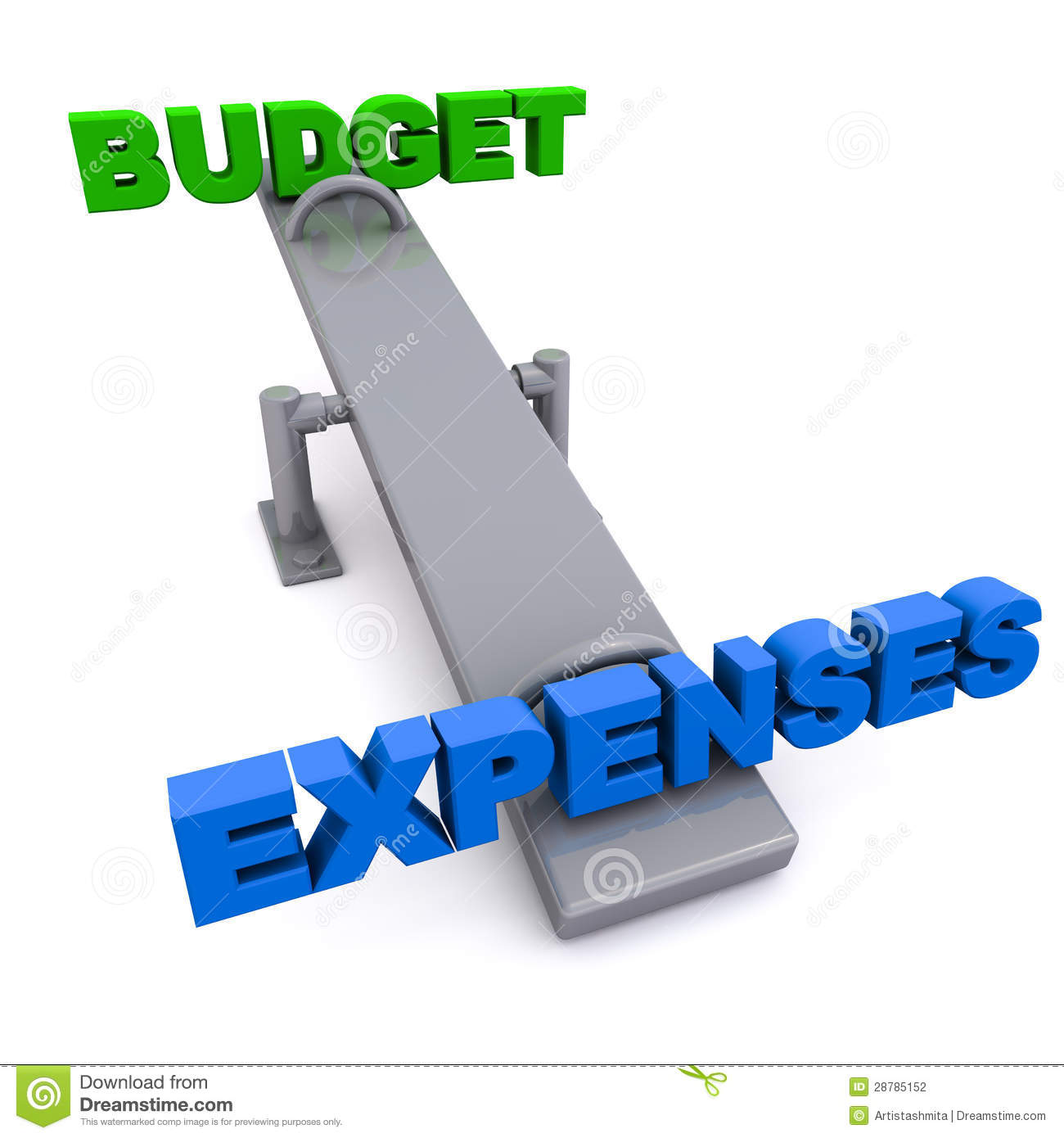 budget versus expenses stock illustration illustration of expenses